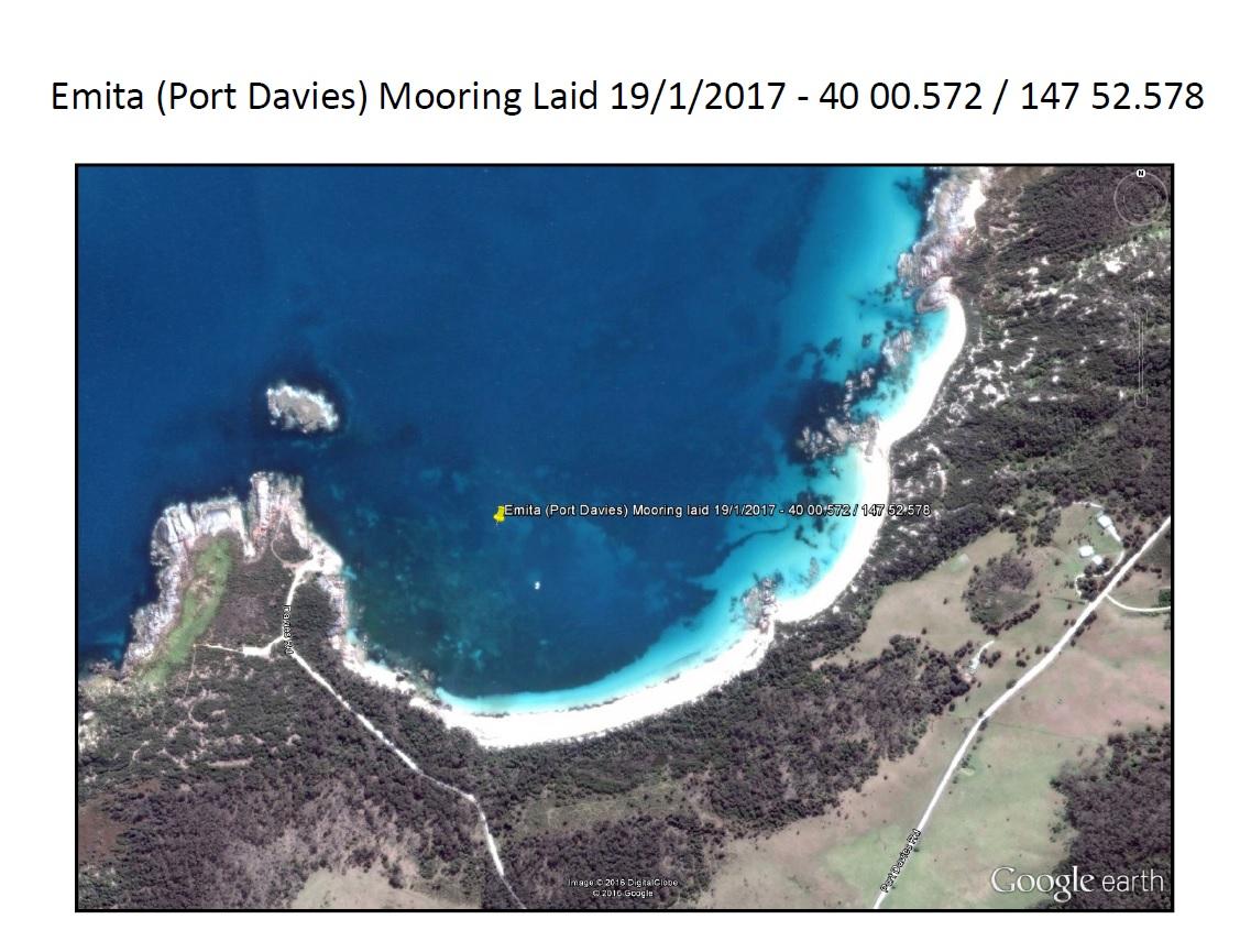 Port Davies,(Emitta) Flinders Island Cruising Mooring - MAST